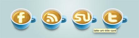 Latte Art Social Icons Gratuit: Liste dicones pour médias sociaux