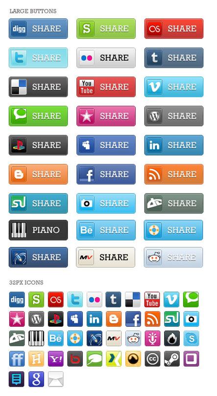 Social Media Bookmark Icon Gratuit: Liste dicones pour médias sociaux