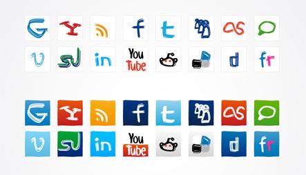 Social media icons 118416641 Gratuit: Liste dicones pour médias sociaux