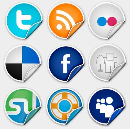 Sophisticated Premium Peel Over Icon Set Gratuit: Liste dicones pour médias sociaux