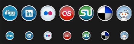 chrome Gratuit: Liste dicones pour médias sociaux