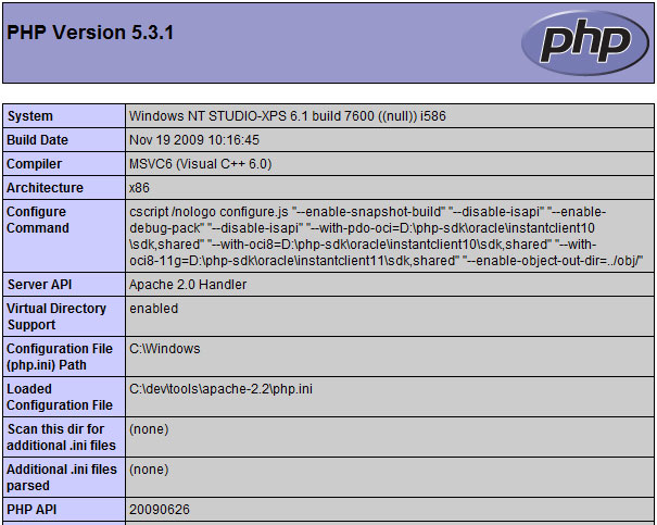 php windows 8 installateur 64 bits