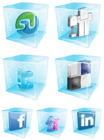 social ice cube Gratuit: Liste dicones pour médias sociaux