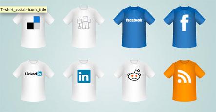 t shirt social icons Gratuit: Liste dicones pour médias sociaux